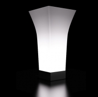 vaso luminos bianco design